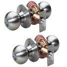 Door Handle Set: Master Lock Model No. BAO0115T  Ball Style Knob Entry Door Lock