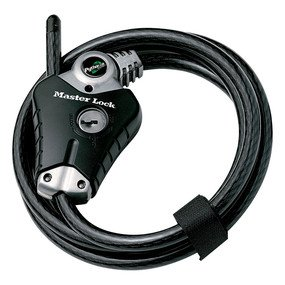 Cable Lock: Master Lock Model No. 8428DPS  6ft Python� Adjustable Locking Cable; Silver and Black