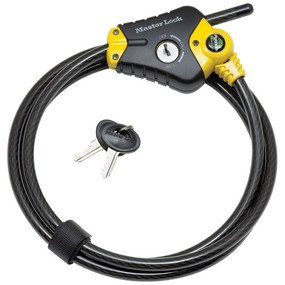 Cable Lock: Master Lock Model No. 8413DPF 6ft Python� Adjustable Locking Cable