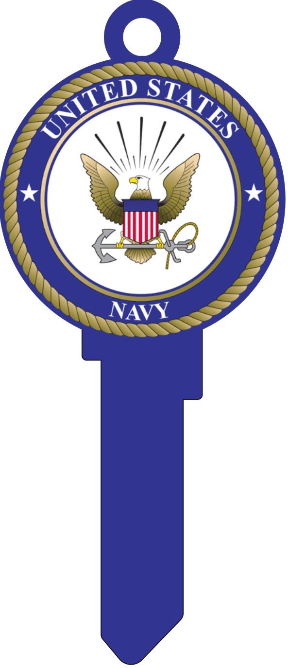 Key Blanks: Real Super Hero's Navy  Key Blanks