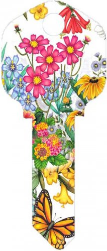 Key Blanks:Model:-WILD FLOWERS Key Blanks - Schlage