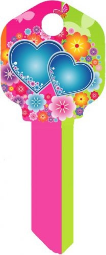 Key Blanks:Model:-FLOWERS&HEARTS Key Blanks - Schlage