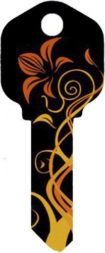 Key Blanks:Model:-ORANGE FLOWER Key Blanks - Kwikset