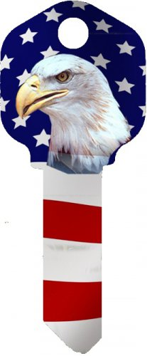 Key Blanks:Model AMERICAN FLAG EAGLE Key Blanks - Schlage