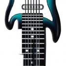 Key Blanks:Model SURF GREEN GUITAR Blanks - Schlage