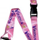 Key Accessories: Minnesota Vikings Pink Lanyard