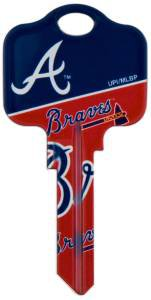 Key Blanks: Model: MLB -ATLANTA BRAVES Key Blanks - Schlage