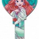 Key Blanks: Key Blank D111 - Disney's Ariel Heart Shape - Kwikset