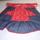 Vintage organdy and  cotton hostess apron 1930s-40s vintage hc1064