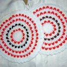 2 Crocheted potholders rick-rack lacing hangers unused vintage hc1105