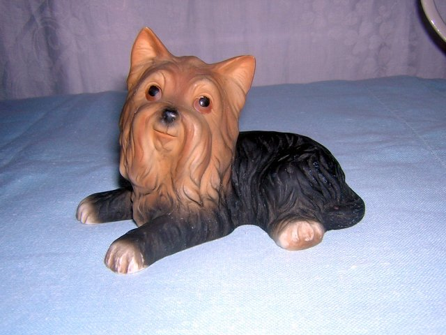 Yorkshire terrier dog small bisque figurine lovable pose hc1115
