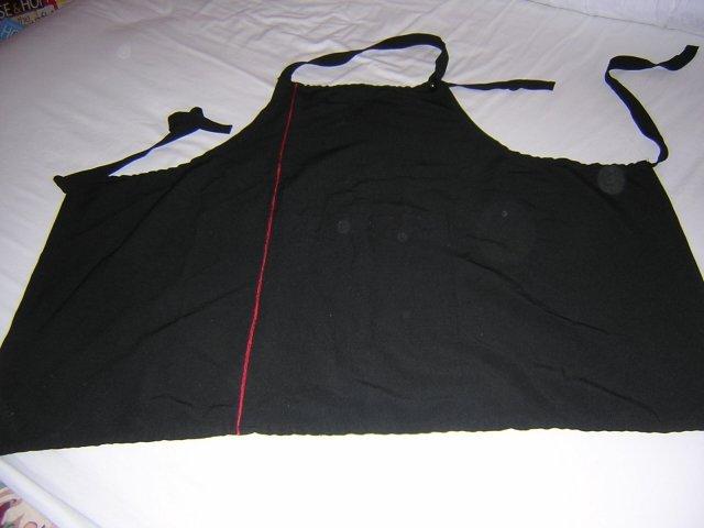 Sultry black mini chef's apron pocket adjustable neck strap hc1118