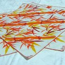 3 Vera dinner napkins orange bamboo vintage linens crafts hc1199