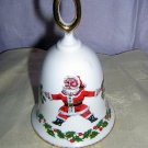 Queen's Rosina bone china Santa bell hand-painted gold Christmas hc1238