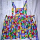 Girl's pinafore apron multi-color balls or balloons hc1246