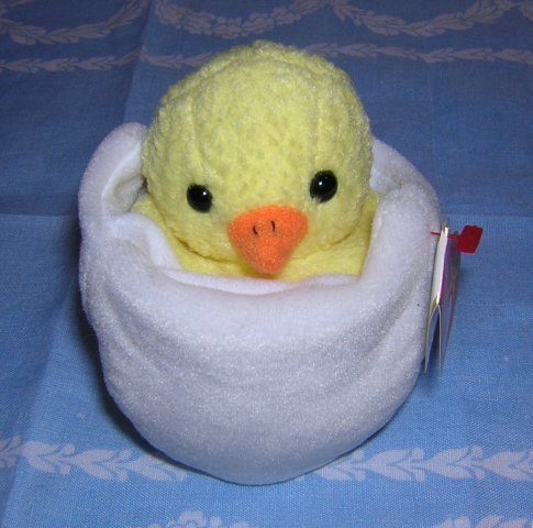 Eggbert retired Ty beanie baby hatching chick mint with tags hc1248