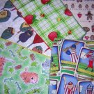 5 Odd children's napkins for crafts lunches hc1267 vintage linens