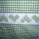 Handmade crib duvet quilt cover lap robe cross-stitch embroidery vintage hc1288