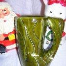 Handmade mug vase pencil holder olive unusual hc1304