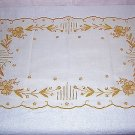 2 Elegant embroidered tray, place, table mats similar to Marghab hc1338