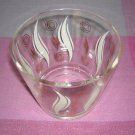 Glass ice bucket bowl printed design Eames era 1950s vintage hc1367