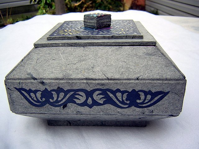 Japanese paper trinket box lovely design hc1387
