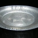 Art deco hammered aluminum tray geometric design hc1402