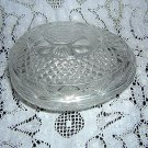 Avon molded glass Easter egg lidded candy or vanity dish hc1414