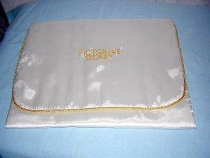 Victoria's Secret Satin lingerie case gold braid piping unused hc1416