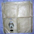 3 Irish linen damask napkins Gold Medal unused vintage linens hc1440