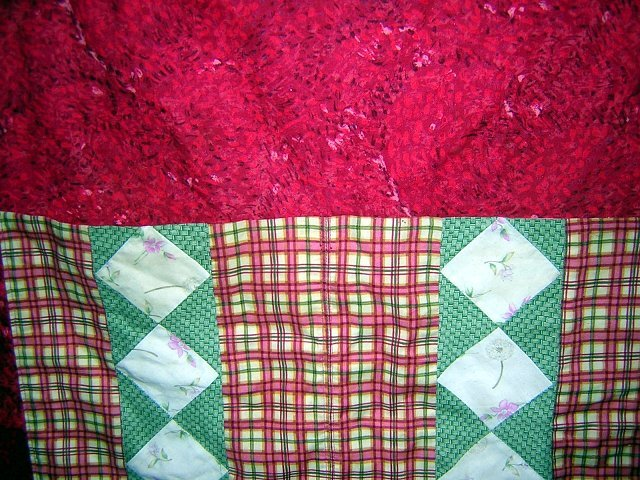 Chef's apron with patchwork panel pockets great vintage hc1448