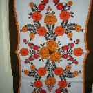Retro cotton towel bold bright flowers unused vintage hc1452