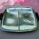 Glo-Hill chrome and bakelite tray with center handle Eames hc1461