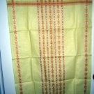 Linen tea towel or cloth woven design unused vintage Scaninavian look hc1489
