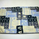 Sous La Foret pair decorator toss cushion covers piping batik look vintage linens hc1542