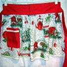 Vintage red trim apron antique kitchen accessories hc1555