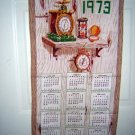 1973 calendar cotton towel clocks watches hour glass hc1558