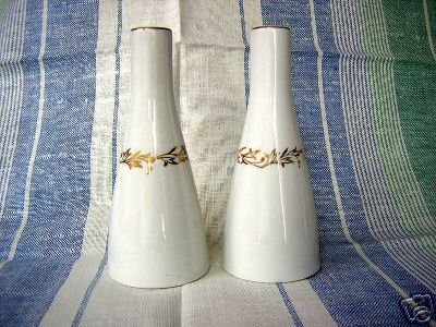 Danish modern china salt pepper shakers perfect Eames era hc1562