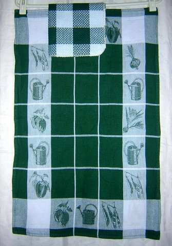 Gardening theme jacquard weave cotton towel and dish cloth hc1579