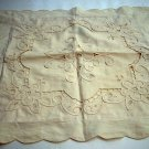 Cutwork braid toss cushion cover light sand vintage hc1587