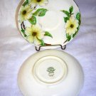 2 Tuscan bone china saucers Dogwood handpainted C9790  hc1599