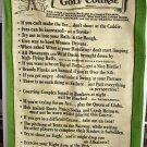 Rules of the Golf Course Blackstaff linen towel vintage hc1604