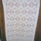 Vintage crocheted tablecloth, topper or runner 36 inches hc1629