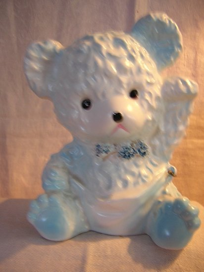 Sampson Import 1964 teddy bear nursery planter spaghetti trim hc1646