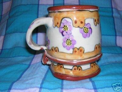 Hand-made ceramic mug or desk accessory whimsical hc1694