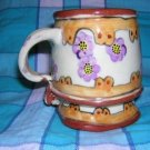 Hand-made ceramic mug or desk accessory whimsical hc1694