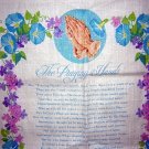 Praying hands calendar towel Helen Steiner Rice morning glories 1978 hc1770