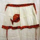 Half apron with batik print trim and fish pocket unused vintage hc1811