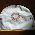 Vintage embroidered appliance cover cotton cheerful excellent condition hc1832