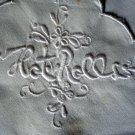 Whitework embroidered hot rolls basket linen antique perfect  hc1838